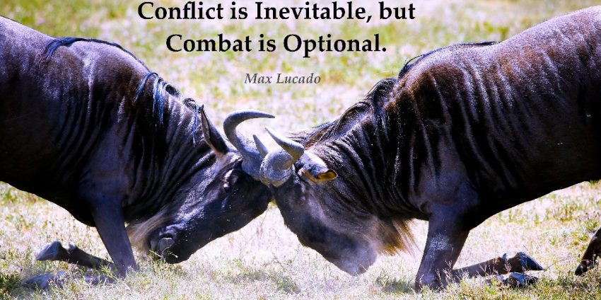 Conflict is Inevitable, but Combat is Optional